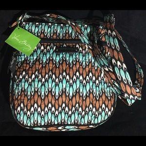 NWT Vera Bradley Petite Double Zip Hipster Bag